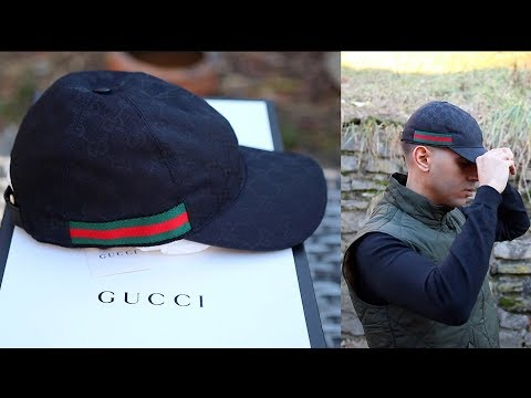 4d89eaab8b5ff6 Gucci Hat Sizing   Unboxing Review Original GG canvas baseball hat with Web