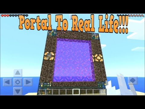 Minecraft PE - How To Make A Portal To Real Life!