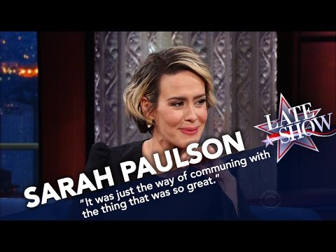 Sarah Paulson Once Sniffed The Back Of Cher's Head