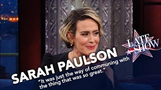 сериал Американская история ужасов, Sarah Paulson Once Sniffed The Back Of Cher's Head