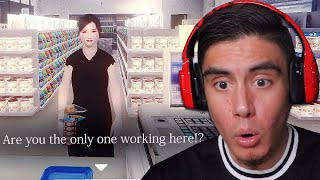 NEVER TRUST ANY CUSTOMERS WHEN WORKING THE NIGHT SHIFT | The Convenience Store (Scary Japanese Game)