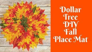 Fall Crafts: DIY Dollar Tree Fall Place Mat