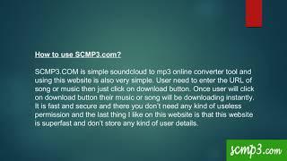 Best online soundcloud to mp3 converter