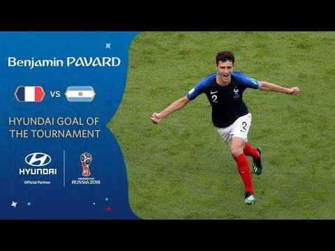 Benjamin PAVARD goal vs Argentina | 2018 FIFA World Cup | Hyundai Goal of the Tournament **WINNER**