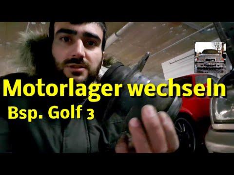 Motorlager wechseln golf 3 ruckeln beim lastwechsel hydrolager prüfen knacken beim schalten e36 vw