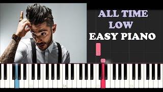 Jon Bellion ft. Stormzy - All Time Low (EASY Piano Tutorial + FREE PIANO SHEET)