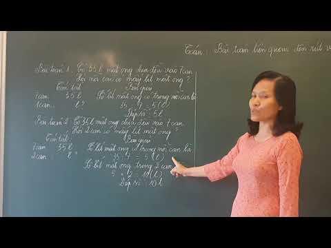 VIDEO BÀI GIẢNG TOÁN KHỐI 3: BÀI TOÁN LIÊN QUAN ĐẾN RÚT VỀ ĐƠN VỊ