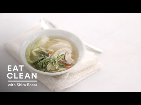Poached Chicken and Bok Choy in Ginger Broth – Eat Clean with Shira Bocar