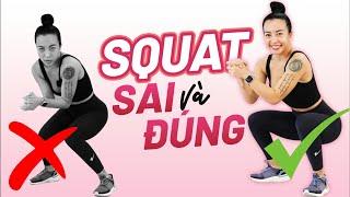 Squat đau gối, đau lưng, đau đùi mà không đau mông? | Kĩ thuật squat | Technique series