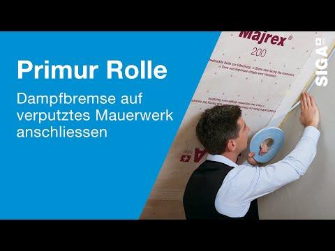 SIGA Primur Rolle - Dampfbremse auf verputztes Mauerwerk luftdicht anschliessen