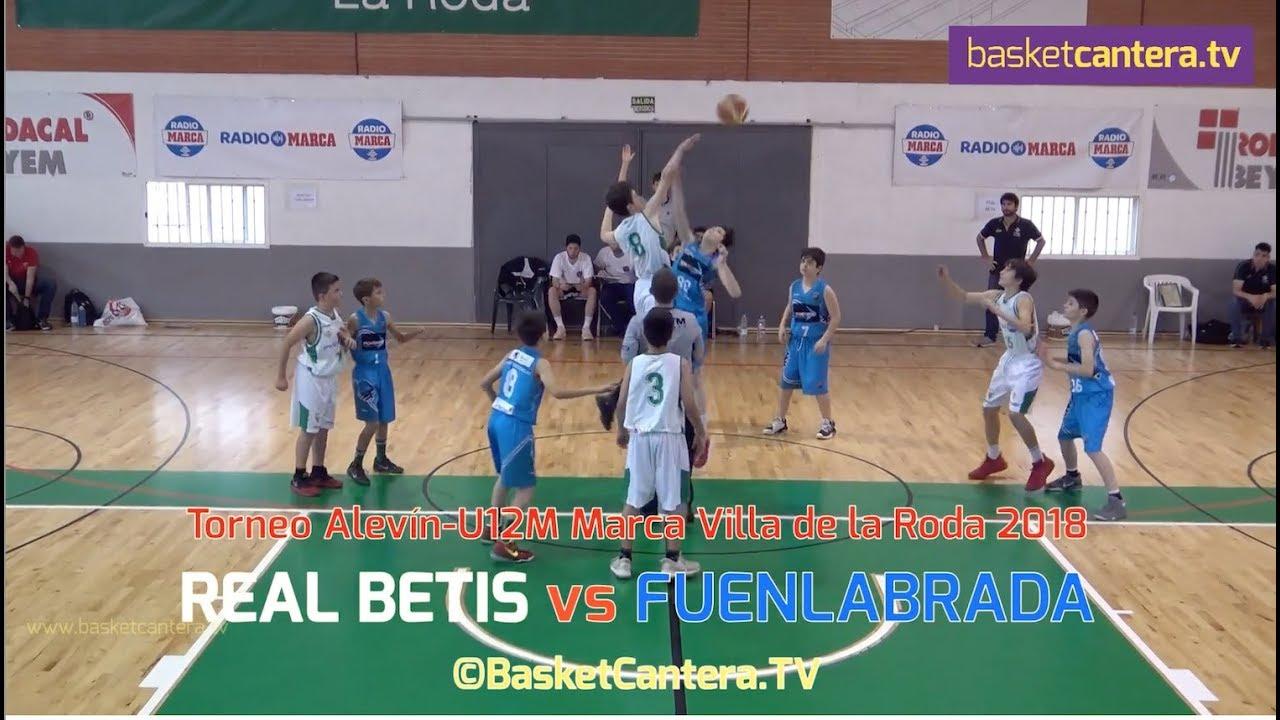 U12M - R. BETIS vs FUENLABRADA.- Torneo Alevín Marca La Roda 2018 (BasketCantera.TV)