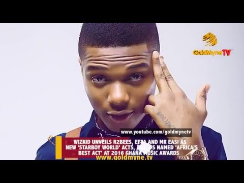 WIZKID UNVEILS HIS NEW ACTS ON STARBOY WORLDWIDE AT THE 2016 GHANA MUSIC AWARDS