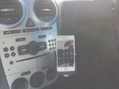 Brodit ProClip Halterung Opel Corsa D Handyhalterung & Kfz Aktiv Halter Samsung Galaxy S2 SII i9100