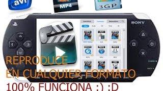 Como Hacer Que La PSP Reproduzcan Videos En Cualquier FORMATO : )