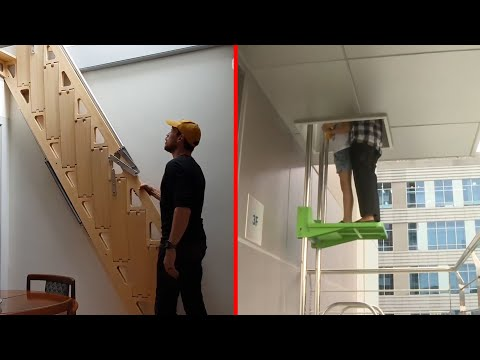 INCREDIBLE Elevators And Folding Stairs | Cool home Designs and inventions