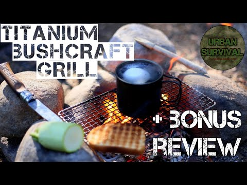 ⚠️[ОБЗОР]Титановый Гриль для Бушкрафта + Бонус Обзор Титана • Titanium Bushcraft Grill & More Stuff