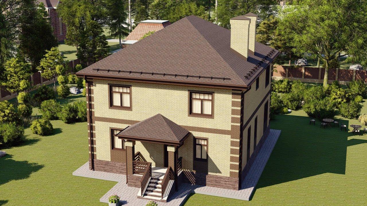Большой двухэтажный дом из пеноблоков 207 кв м