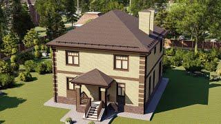 Проект дома 207-B, Площадь дома: 207 м2, Размер дома:  13x11,1 м