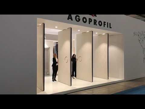AGOPROFIL presentazione porta a bilico made expo 2019