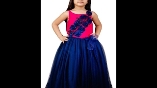 New Collection Of Baby Girl Dresses , Kids Party Wear Pink Color Gowns