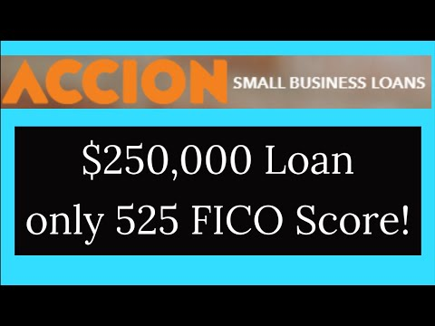 , title : 'Must Watch! $250,000 ACCION Business Loans with only 525 Credit Score!