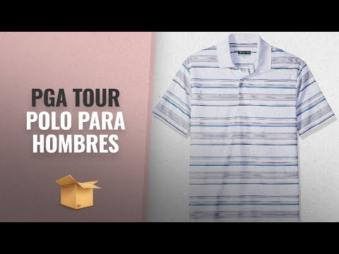 Productos 2018, Los 10 Mejores Pga Tour: PGA TOUR Men's Short Sleeve Energy Airflux Printed Striped
