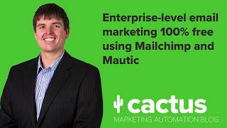 Free professional email marketing using Mautic and Mailchimp