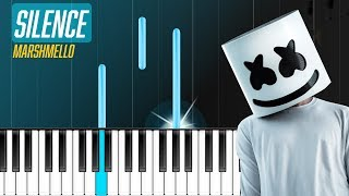 """Marshmello   """"Silence"""" Ft Khalid Piano Tutorial   Chords   How To Play   Cover"""