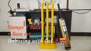Plastic Cricket Stumps Unboxing And Review
