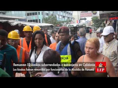 Remueven 52 kioskos subarrendados a extranjeros en Calidonia