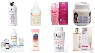 Best Skin Lightening, Whitening And Skin Firming Lotions .A Must Watch