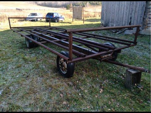телега для перевозки рулонов с доработанным поворотом колес.