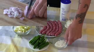 Salchichas en salsa con pimientos  || Cocina con rock