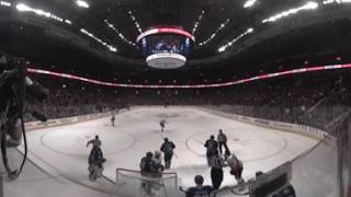 360º NHL Highlight: Scrum forms around Miller during Canucks vs Flames game