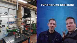 TV Wandhalterung Edelstahl - schwenkbar - Vlog Teil 1 - JPS MetallTV