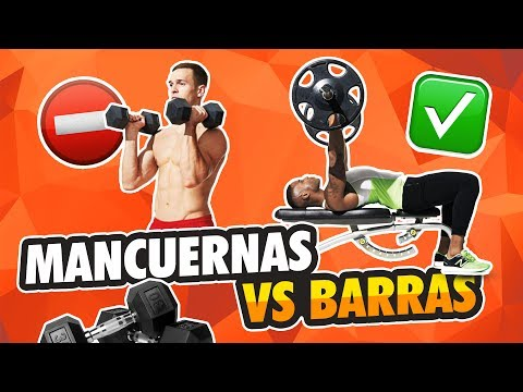 MANCUERNAS VS BARRAS: 5 Claves entrenamiento mancuernas y barras