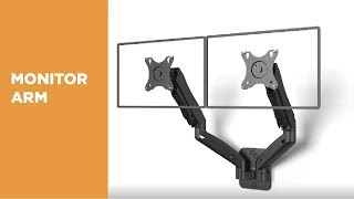 Wall-Mounted Gas Spring Monitor Arm - LDA31-114