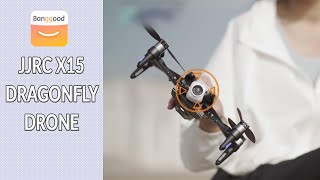 JJRC X15 Dragonfly GPS WiFi FPV with 4K HD Camera 2-axis Gimbal Optical Flow Brushless RC Quadcopter