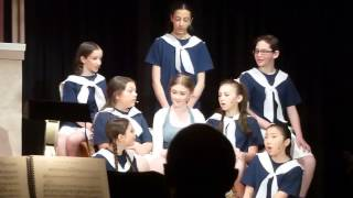 Lauren as Liesl with Maria and Children singing Do Re Mi in The Sound of Music