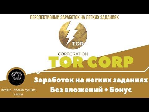 TOR Corporation Заработок на легких заданиях Без вложений Полный Обзор Это не RKT8 это TORCorp