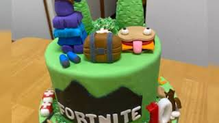 How to make Fortnite cake topper