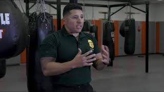 Border Patrol Academy Physical Techniques Department curriculum overview.
