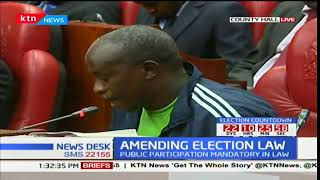 Former MP, Kalembe Ndile giving views on the proposed changes on the electoral laws