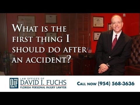 What is the First Thing I Should Do After an Accident?