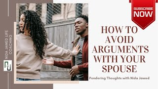 How to avoid arguments with your spouse