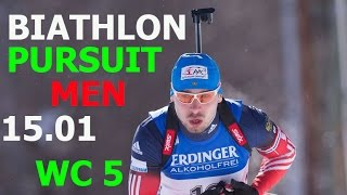 BIATHLON MEN PURSUIT 15.01.2017  World Cup 5 Ruhpolding (Germany)