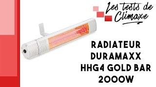 Test d'un radiateur Duramaxx HHG4 Gold Bar 2000W