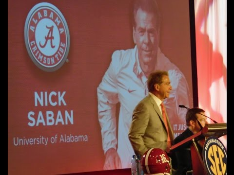 Nick Saban 2016 SEC Media Day