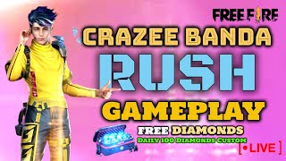 FREE FIRE LIVE RANK PUSH | FREE FIRE LIVE INDIA | FREE FIRE GIVEAWAY