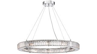 "Possini Euro Mulina 35 1/2"" Wide Crystal Glass Pendant Light"